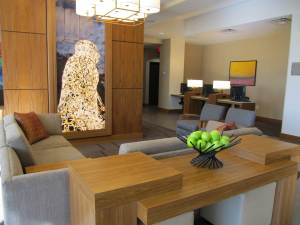 Interior of new Hyatt Place hotel developed by David Songy near Houston's Galleria.