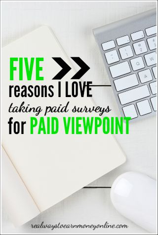 Five reasons I love answering paid surveys for Paid Viewpoint, one of my favorite survey panels!