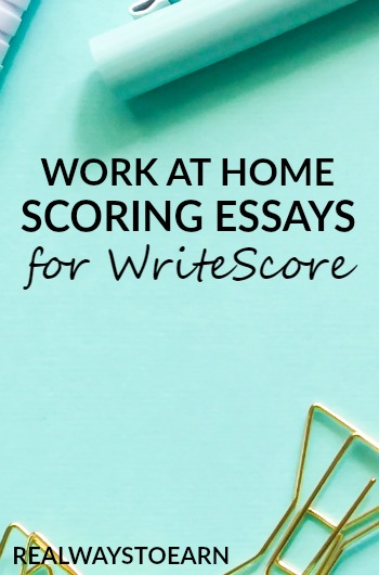 Get a work at home job scoring student essays for WriteScore. They hire seasonally.