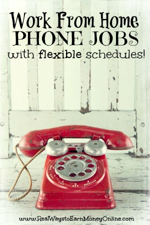 Do you need a phone job from home where you can enjoy a flexible schedule? The work from home jobs in the post are all allow you to decide when you want to work rather than adhering to a strict schedule.