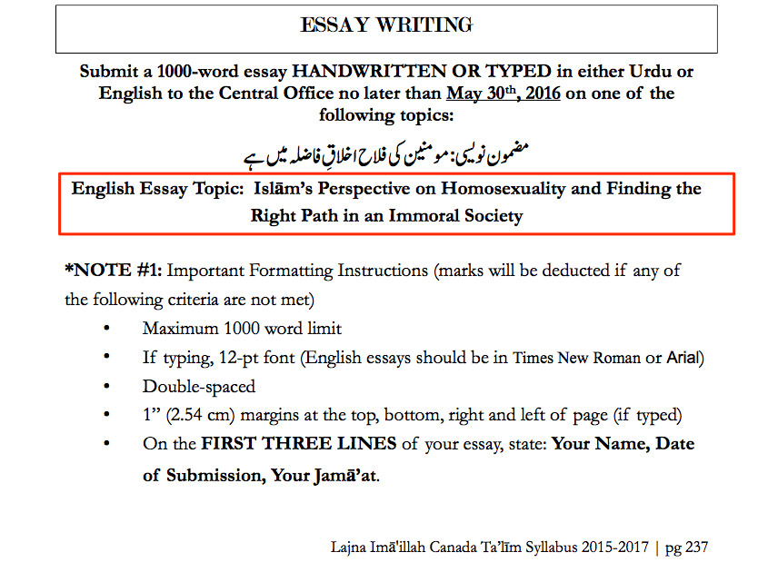 Write my homosexuality essay