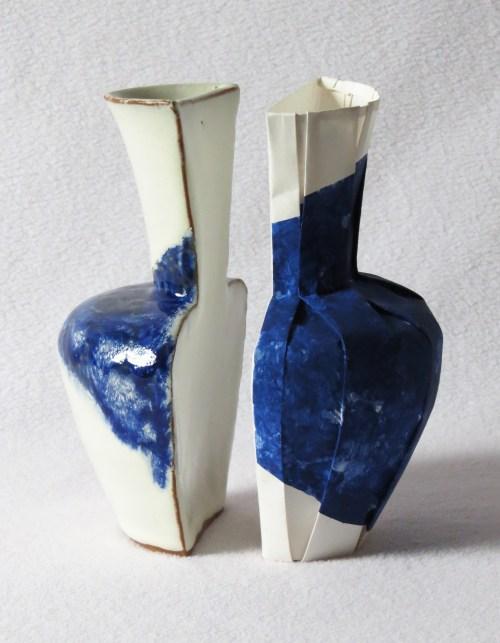Origami/Ceramic Split Vessel