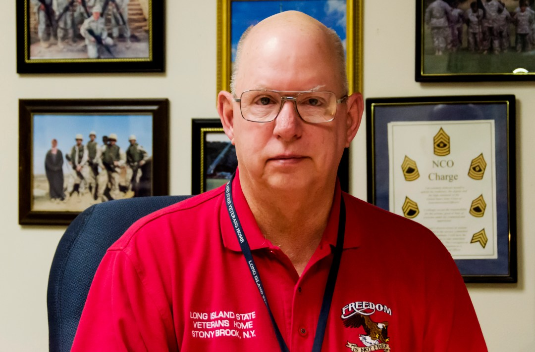 Gary Richard, veteran service officer at the Long Island State Veterans Home. Photo by Rebecca Anzel.