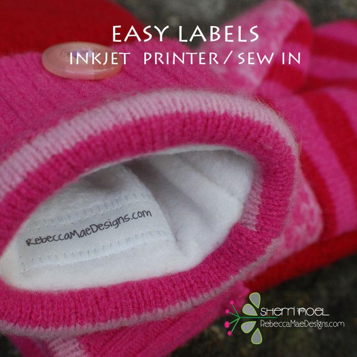 TUTORIAL ~ Easy Sew In Labels
