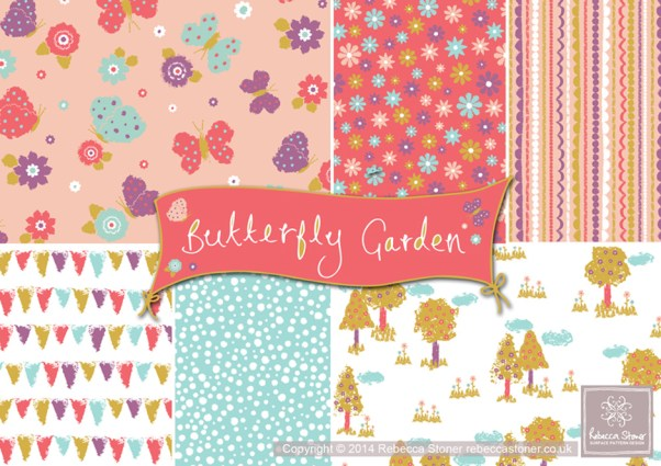 Butterfly Garden Collection © Rebecca Stoner www.rebeccastoner.co.uk