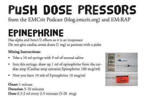 Push-Dose Pressor