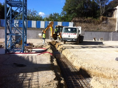 Terrassement parking souterrain