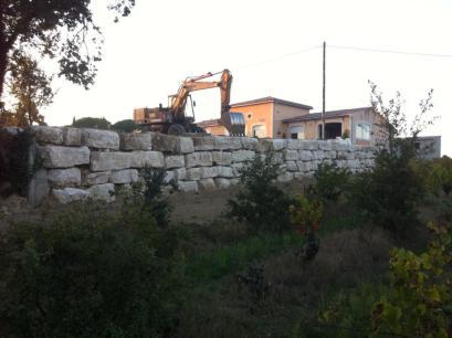 Enrochement mur de soutènement