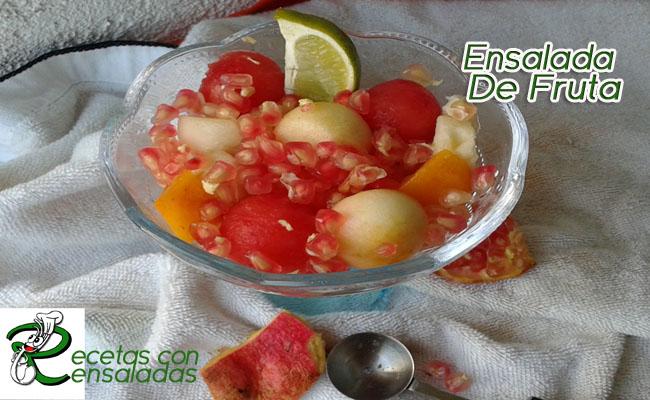Ensalada de fruta ensaladas sencillas caseras - Como sorprender en navidad ...