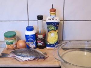 Ingrédients_Daurade à la sauce aux cacahuètes