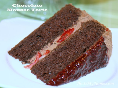 Awesome Cooking Strawberry Mousse Cake Filling Recipe Strawberry Mousse Cake Porto S Chocolate Strawberry Torte Recipes Food