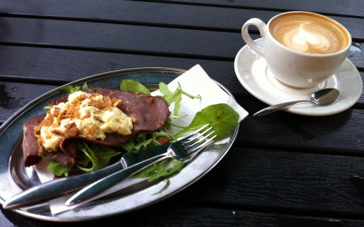 Smörgås and coffee at Lilla Kafferosteriet