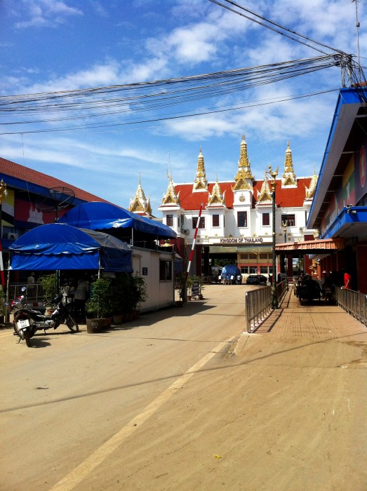 No man's land - the border crossing between Thailand and Cambodia