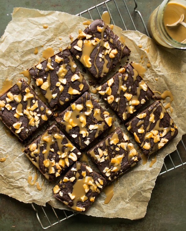 Black Bean Brownies with Coffee Coconut Caramel