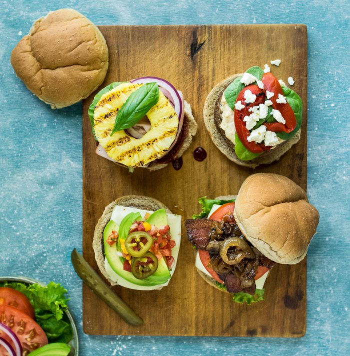Grass Fed Burgers 4 Ways Square