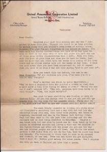 La lettre adressée à sa mère et sa soeur