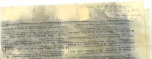 Nom du Rev. C.B. Washer écrit à la main dans un coin du journal