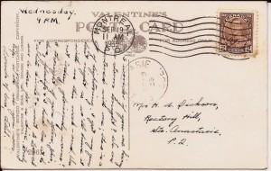 Cette carte postale fut postée par Ethel Dickson le 19 septembre 1935