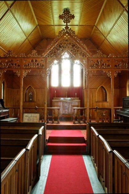 Vue de l'autel Photo: Stéphane Giraldeau, 2009