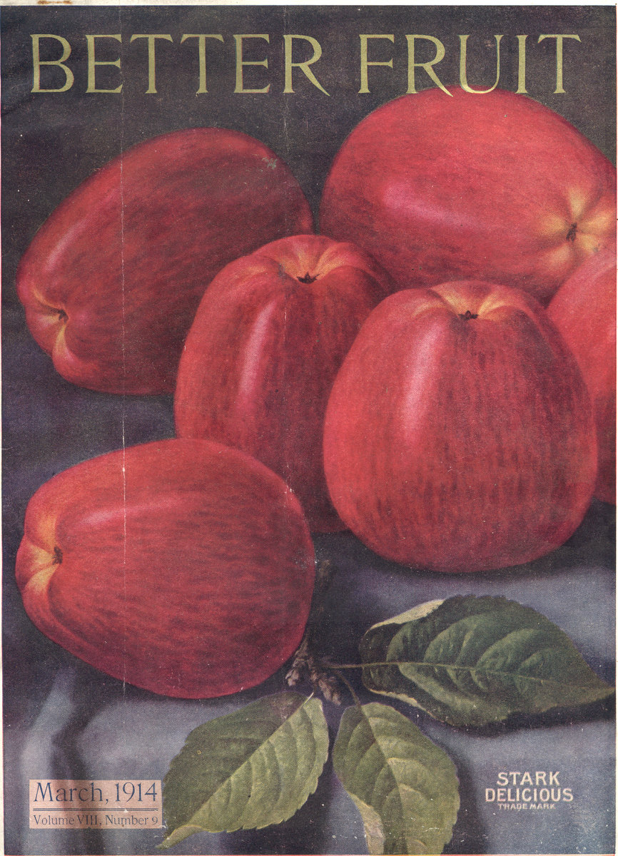 Couverture du magazine Better Fruit datant de 1914