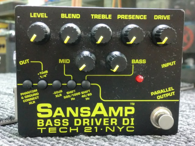 TECH21 SANSAMP BASS DRIVER DI V2