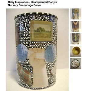 recycle tin decupage