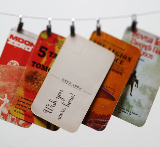 How To Make A Recycled Book Cover ~ How to recycle a paperback book cover into postcard