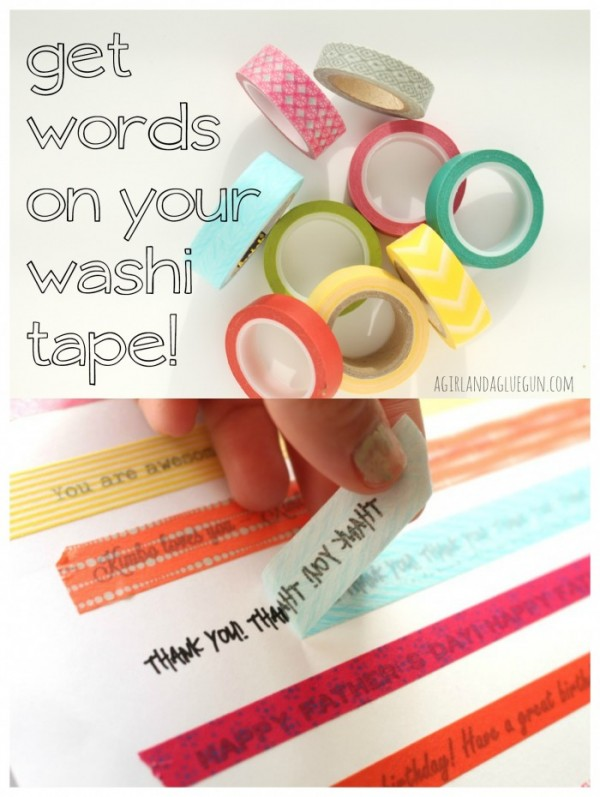How to get words on washi tape recycled crafts for How do you use washi tape