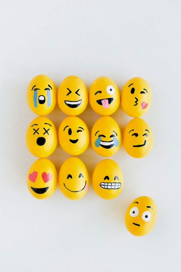 Emoji Easter Eggs For Modern High tech peeps Recycled