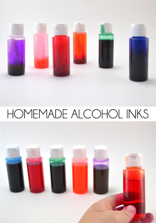 How To Make Your Own Alcohol Inks Recycled Crafts