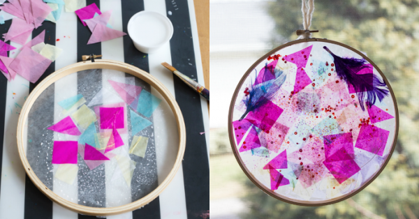How-to-Make-a-Tissue-Paper-Suncatcher-in-an-Embroidery-Hoop-Frame