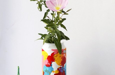 How to paint a can and make a vase