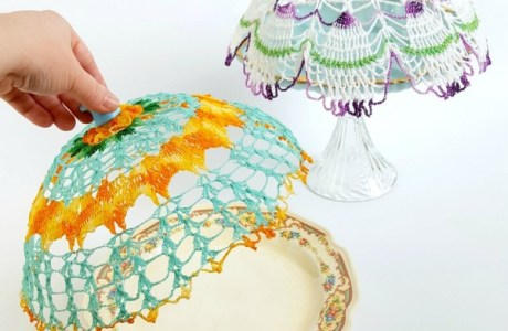 How to make recycled vintage doily cloches