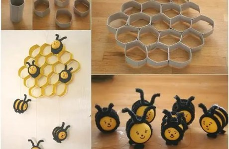 How to make a honey bee and beehive decoration