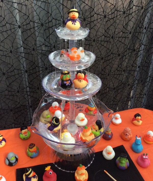 halloween rubber ducky fishing fountain