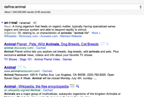 Define animal  Google Search