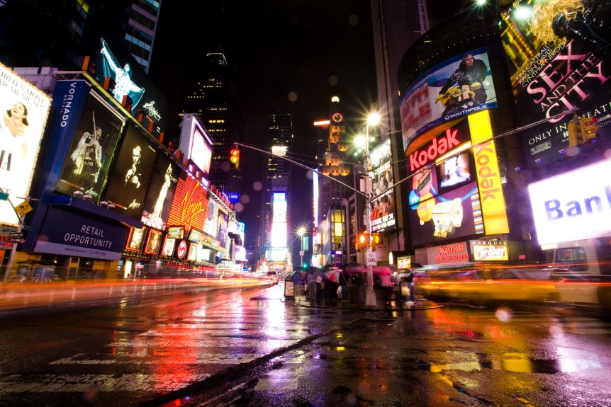 Wet Times Square (Kenny Louie/flickr.com)