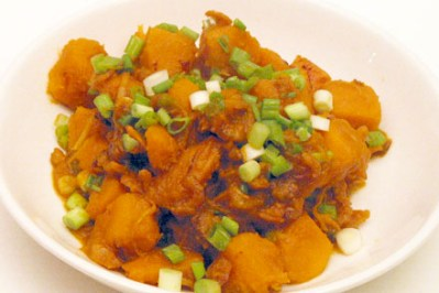 Stir-Fried Pumpkin with Dried Shrimp