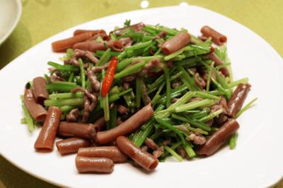 Stir-Fried Sea Intestine with Celery and Pork