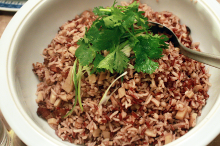 Multigrain Rice with Chinese Bacon