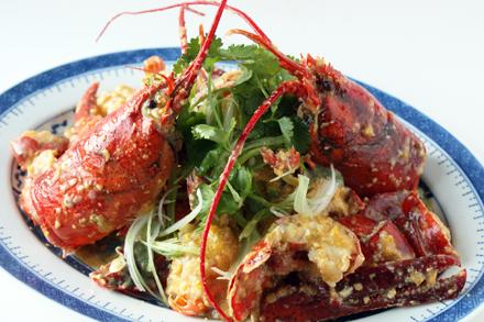 Stir-Fried Lobster in Salted Egg Yolk Sauce