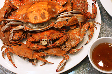 Steamed Crab with Ginger Vinegar Sauce