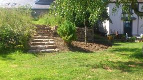 Limestone steps & wall Summer 14