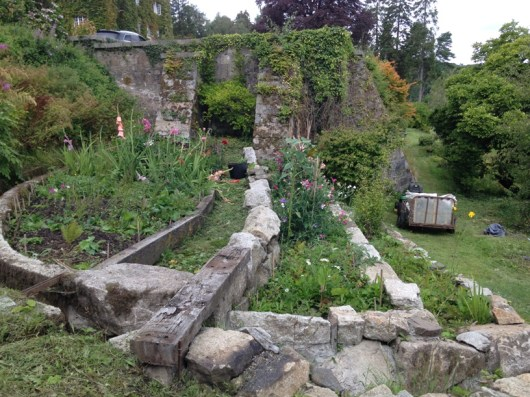 raised granite beds created 2014