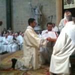 Ordination diaconale d'Oscar pour le diocèse de Dijon (2012)