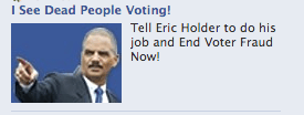 Attorney General Voter Fraud Eric Holder