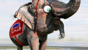 gop elephant by donkeyhotey
