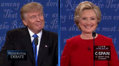 Trump vs Clinton Presidential Debate - two different realities