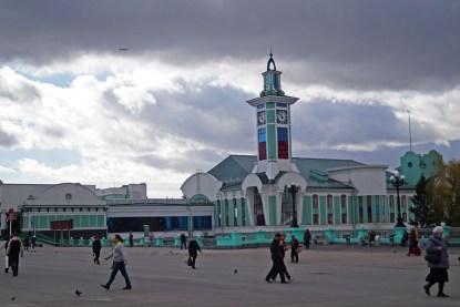 zegar przy stacji Nowosybirsk