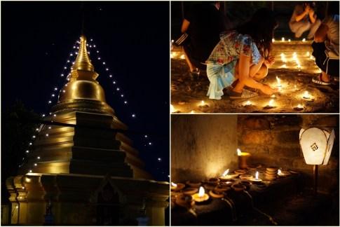 ...nie tylko na terenie świątyń, których w Chiang Mai jest mnóstwo, ale też na chodnikach, murach, płotach i bramach.